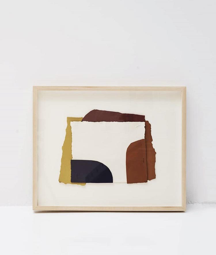 collage and gouache on paper by claudia valsells