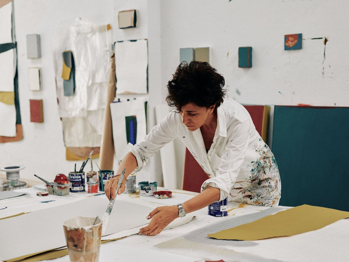 claudia valsells in her studio of Barcelona